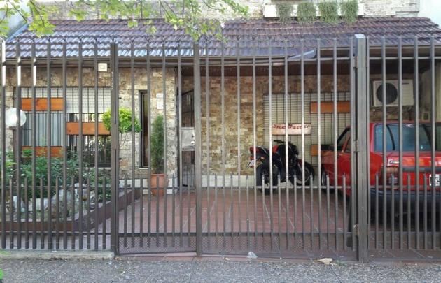La casa del policía asesinado.