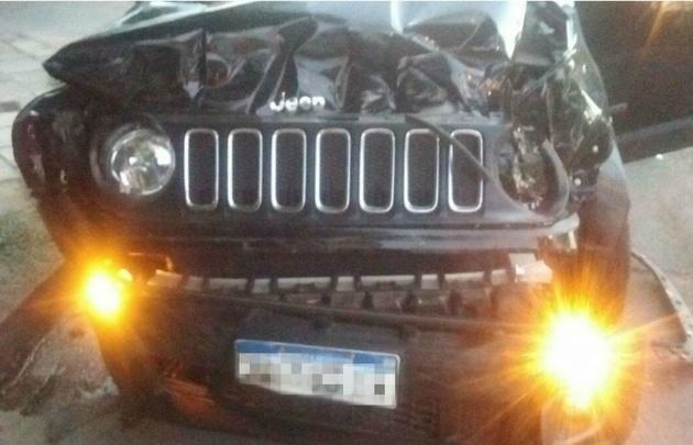 Así quedó el Jeep de Palacios tras la colisión (Foto: @anti_boti).