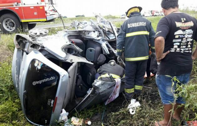 Cuádruple choque entre automovilistas argentinos y uruguayos en Brasil.