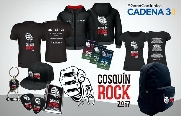 Sorteo diario de productos del Cosquín Rock.