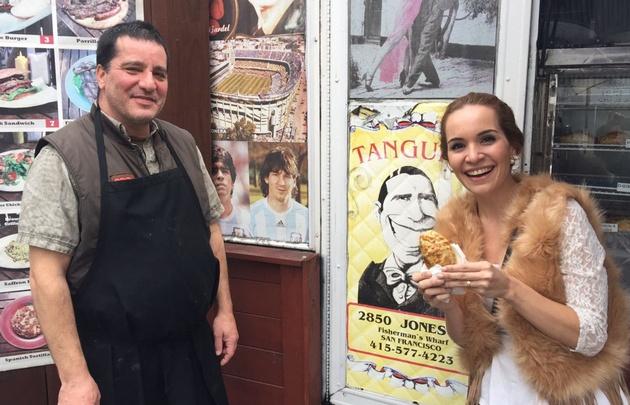 Agustina visitó una parrilla argentina en pleno San Francisco.