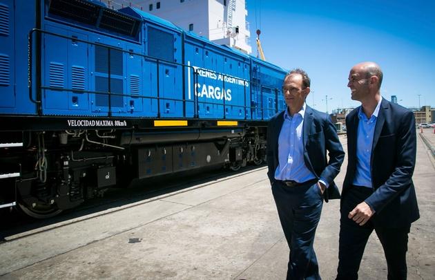 Dietrich recibió dos nuevas locomotoras destinadas al Belgrano Cargas.