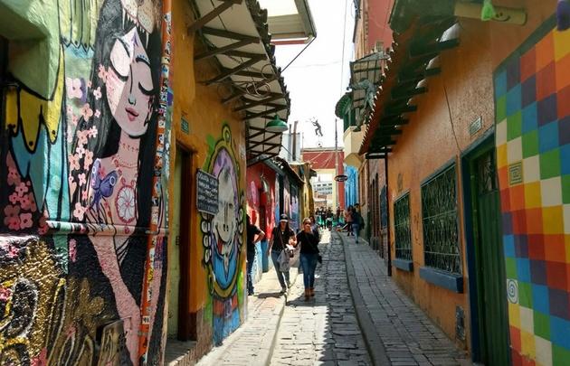Barrio La Candelaria, en el centro antiguo de Bogotá.