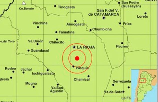 El sismo en La Rioja fue de 4.6º en la escala Richter.