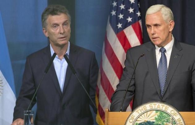 Macri coincidió con Mike Pence en redoblar los esfuerzos en materia de empleo.