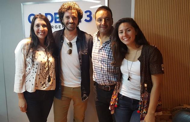 Julián Labruna visitó los estudios de <b>Cadena 3</b>.