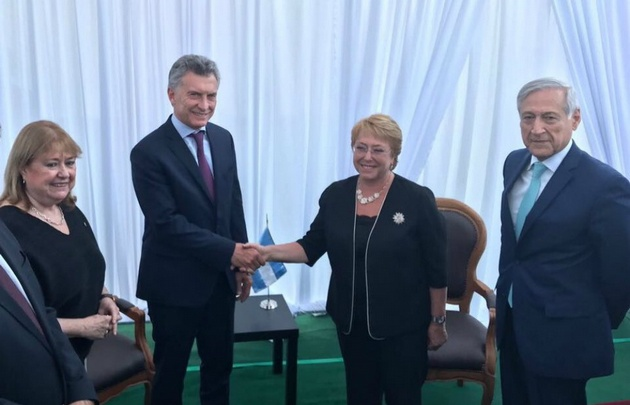 Macri y Bachelet se reunieron en la localidad chilena de Colina.