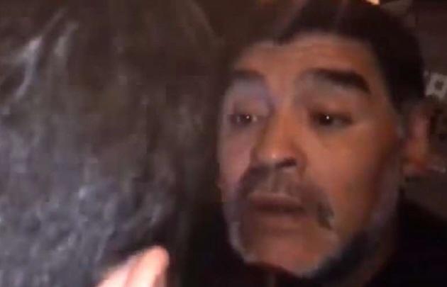 Maradona suma escándalos en su visita a España.
