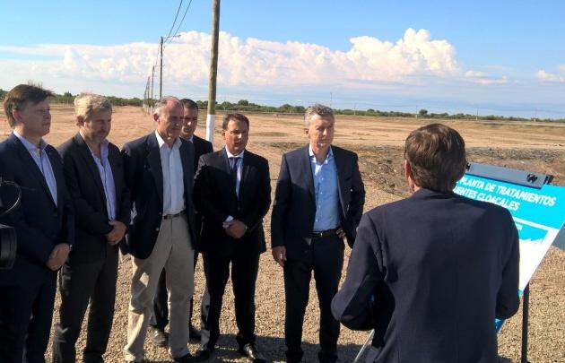 Mauricio Macri inauguró obras en San Luis.