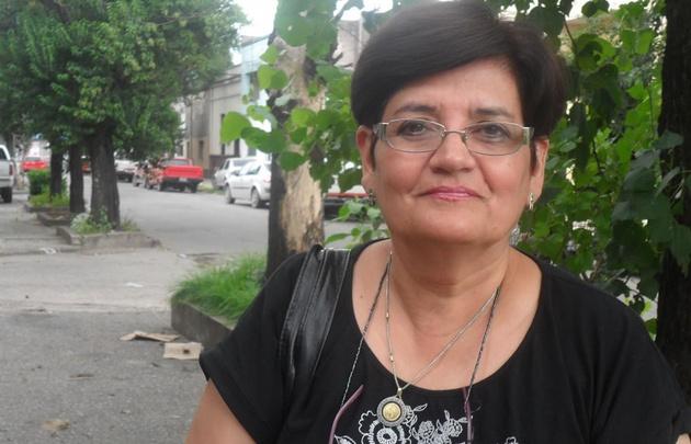 Graciela Ledo, hermana del soldado Alberto Ledo, contenta con la detención de Milani.