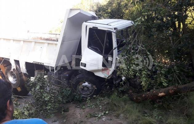 Accidente en Falda del Carmen.