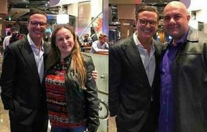 Luis Miguel se dejó fotografiar con la gente que se encontraba en Las Vegas.