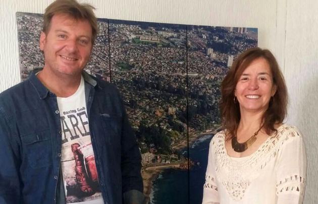 Guille Hemmerling con la Ministro de Turismo de Viña