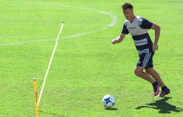 Rescaldani realizó su primera práctica en Talleres (Foto: Brigada Deportiva).