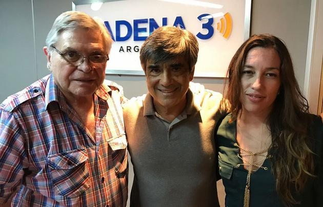 Rony con Luis Lima y Miriam Miller en Viva la Radio.