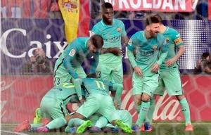 Lionel Messi le dio el triunfo al Barcelona sobre el final.