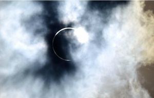 Así se vio el eclipse en Chubut.