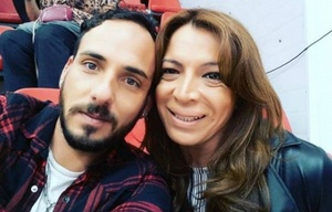 Lizy Tagliani y su pareja Federico Nihilo.