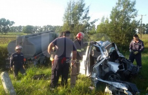 El trágico choque se produjo en la ruta 11 a la altura de Colonia Silva (Foto: UNO).
