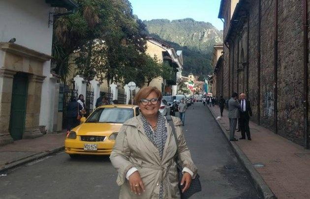 María Eugenia Pasquali llegó a Bogotá donde se celebrará la Feria de Turismo.
