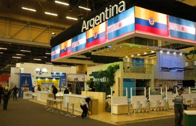 El stand de Argentina en la Feria Internacional de Turismo de Bogotá ANATO 2017.