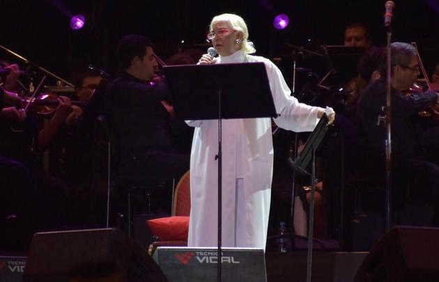 Susana Rinaldi, figura en la Fiesta de la Cosecha.