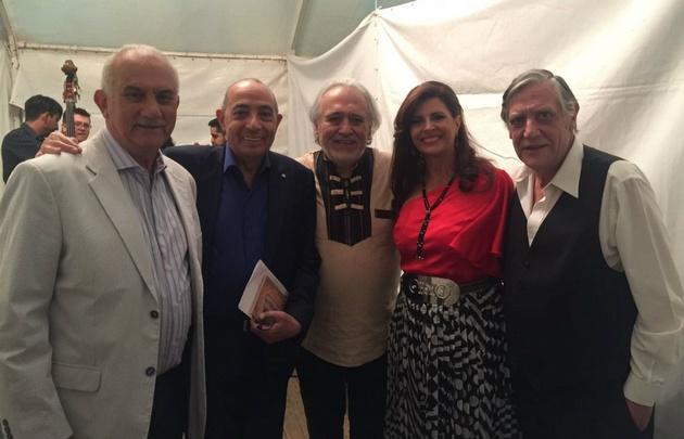 Luis Yunes, Mario Pereyra y Laura Carbonari en la Fiesta Cuyana.