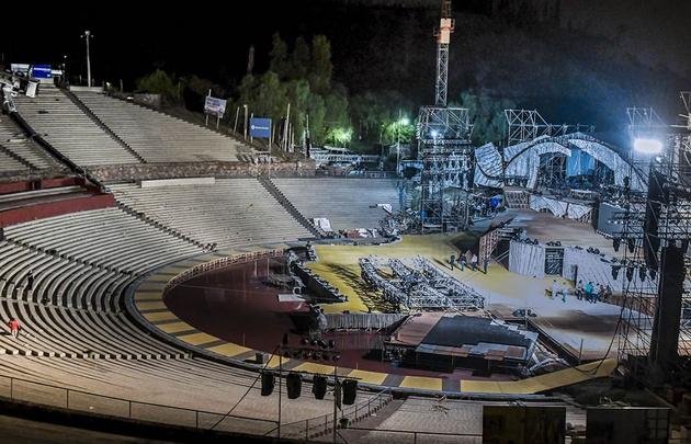Una parrilla de luces y una grúa cayeron sobre las gradas del anfiteatro Frank Romero Day.