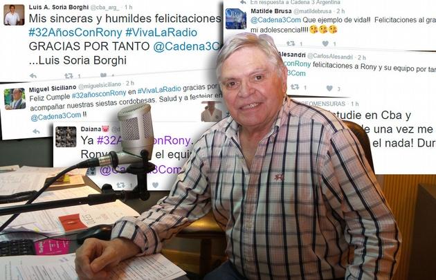 Las redes se inundaron con buenos deseos a Rony Vargas.