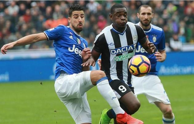 Juventus empató con Udinese, pero sigue siendo el cómodo líder.