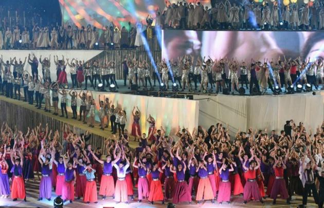 Más de mil bailarines en escena en el acto central de la Vendimia (Foto: Mdz Online).