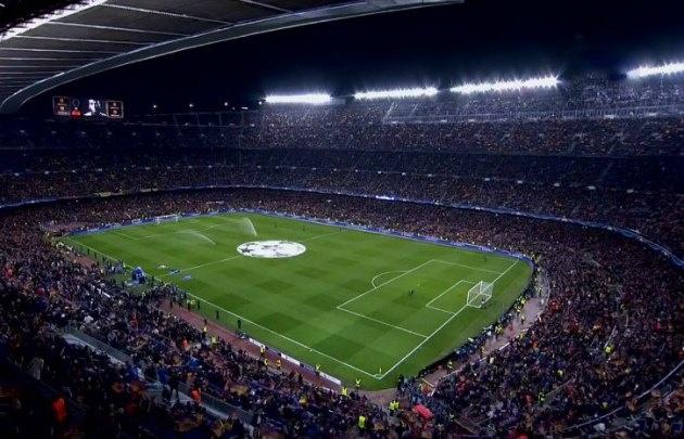 El Camp Nou lució repleto y festejó el histórico triunfo.