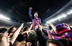 Messi recibió un gran saludo de su club Barcelona.