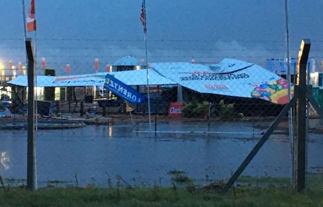 Expoagro, cerrada por inundación.