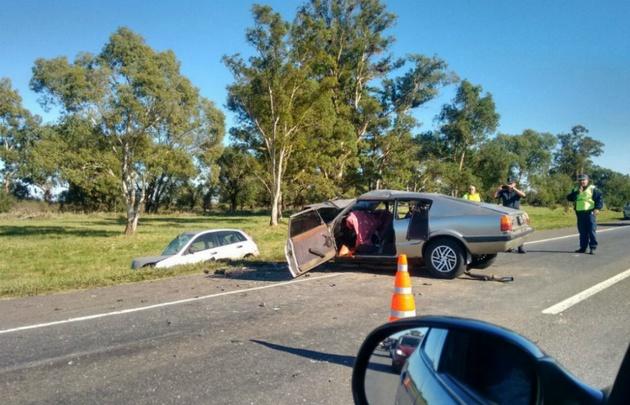 Uno de los vehículos regresaba del recital (Foto: Gentileza de Diario Popular)