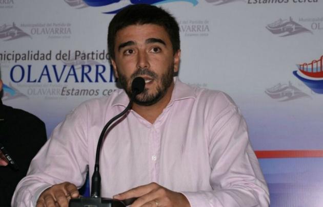 El intendente de Olavarría, Ezequiel Galli, en la conferencia del sábado.