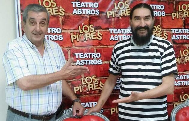 ''El Negro'' Álvarez y Hugo Varela, junto a Orlandinho.