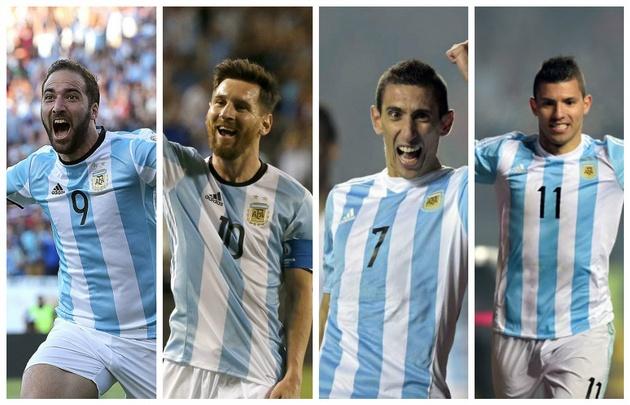 Higuaín, Messi, Di María y Agüero serían titulares ante Chile.