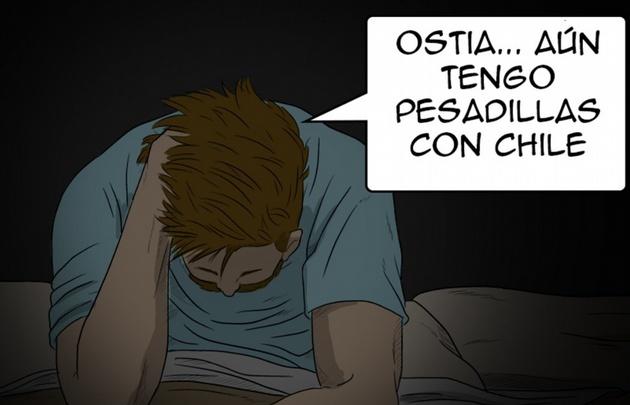 El ilustrador se burló del crack argentino con un cómic titulado