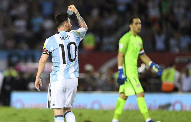 Messi marcó el único gol del triunfo argentino sobre Chile.