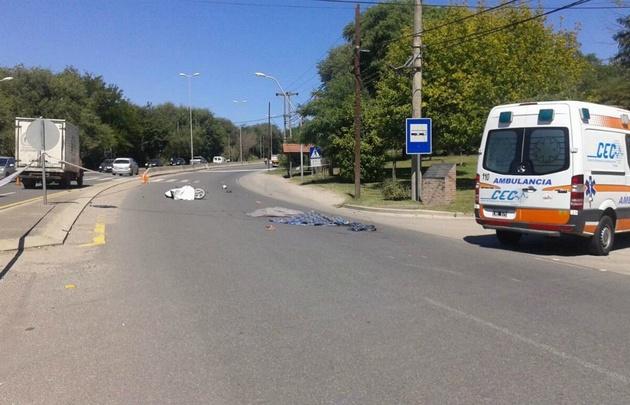 Accidente fatal sobre la ruta E53.