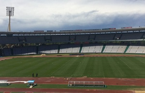 Así está la cancha del estadio Kempes a horas de su reinauguración.