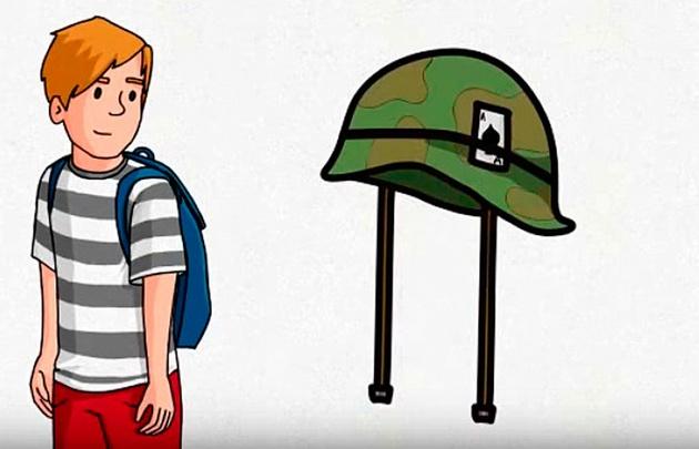 El video reivindica el accionar de la dictadura militar.