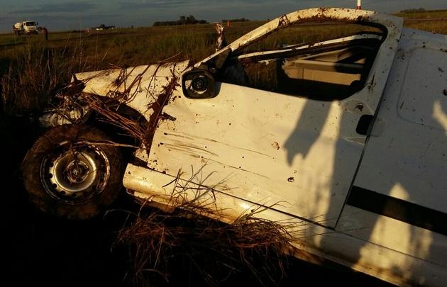 El accidente ocurrió sobre la ruta provincial Nº 3 Sur