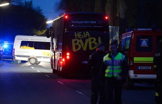 Un herido tras una explosión en el micro del Borussia Dortmund (Foto: AS).