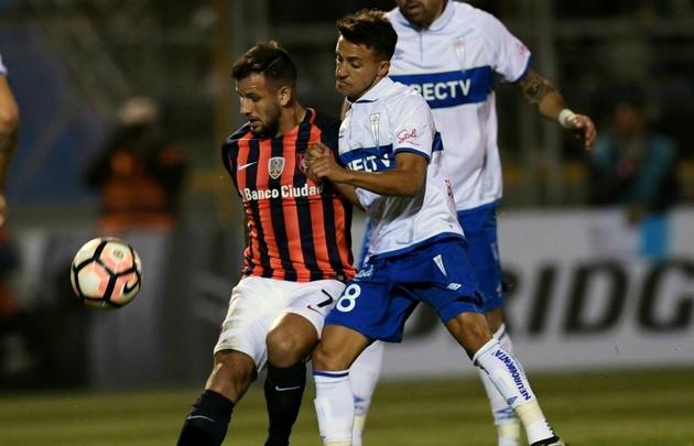 ''El Ciclón'' igualó en Chile y sigue último en su grupo en la Libertadores.