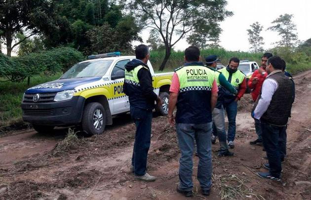 La policía montó un intenso operativo para dar con el sospechoso (Foto de La Gaceta)