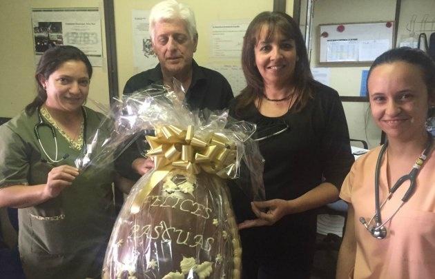 El hospital Infantil recibió su huevo de Pascua de Capilla Vieja.