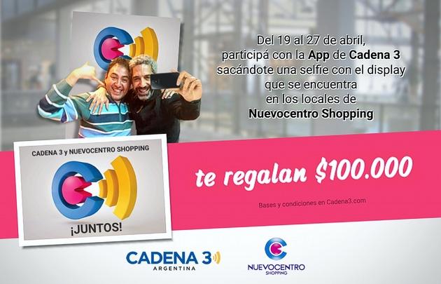 Ganá $100.000 con Cadena 3 y Nuevocentro.