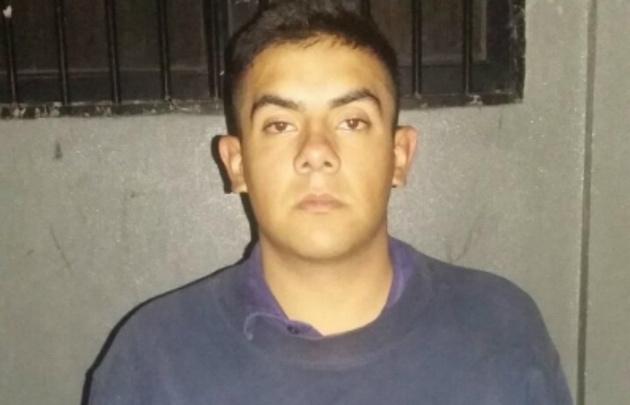 Cristian Maximiliano Arce detenido por el robo.